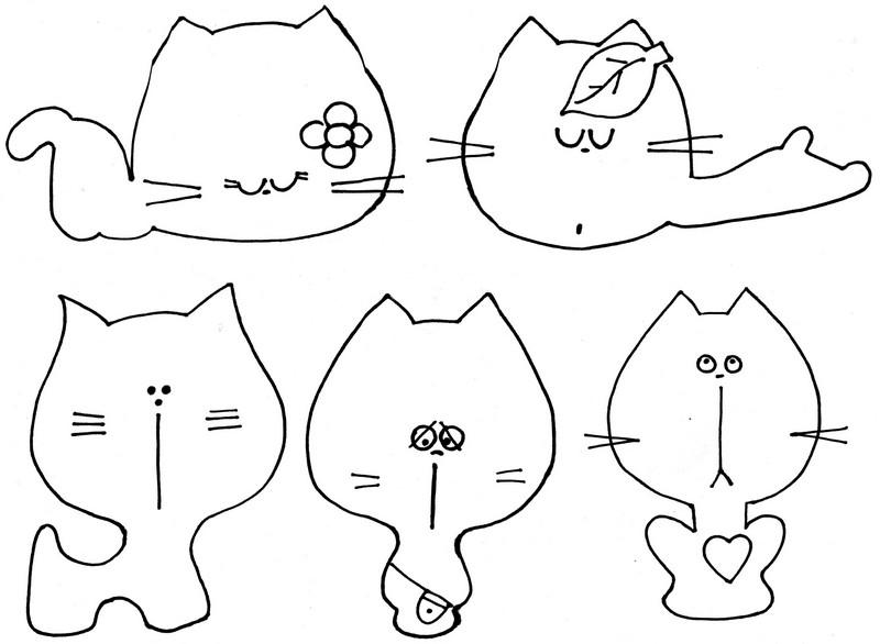 Шаблоны котиков из фетра, канализации смешные