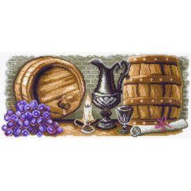 """Канва с рисунком Матренин посад 1574 """"Винный погребок"""""""