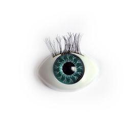 Глаза с ресничками овальные 22мм 100шт.
