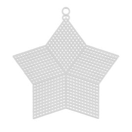 Пластиковая канва фигурная, звезда 15 х 13 см - 10 шт