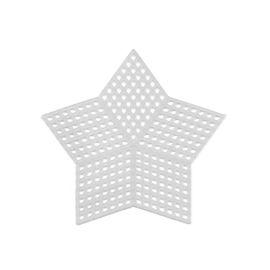 Пластиковая канва фигурная, звезда 9 х 9 см - 10 шт