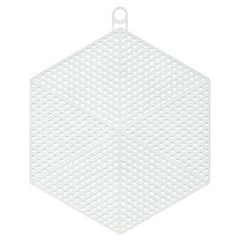 Пластиковая канва фигурная, шестиугольник 14 х 12 см - 10 шт