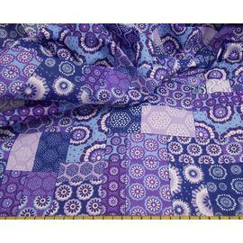 "Ткань хлопок ""фиолетово-синий лоскут"", ширина 150 см"