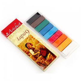 Набор полимерной глины 9 классических Цветов Артефакт-Lapsi 820083/7109-8