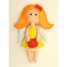 """Набор для изготовления текстильной игрушки из фетра ПФА-353 """"Ангелочки"""" Модница"""