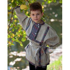 Русская льняная рубашка для мальчика