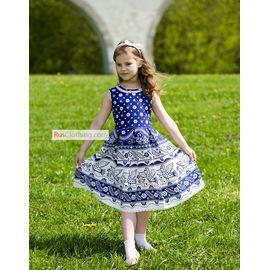 Русское народное платье для девочки Синяя птица