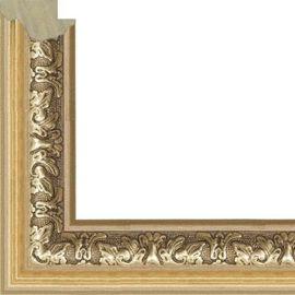 Рама без стекла для картин Jesus  (пластик) золотая