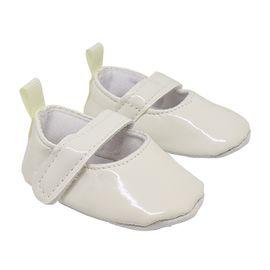 Туфли для куклы лакированные, цвет белый