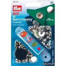 Кнопки Спорт и кэмпинг (латунь) Prym 390201