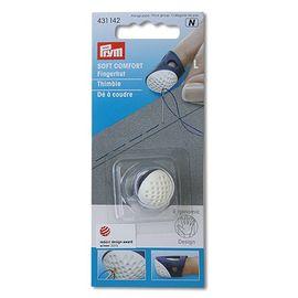 Напёрсток 'Ergonomics', размер L, пластик, белый/фиолетовый Prym 431142