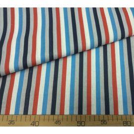 """Ткань хлопок """"Красно-синяя полоска"""", ширина 150 см"""