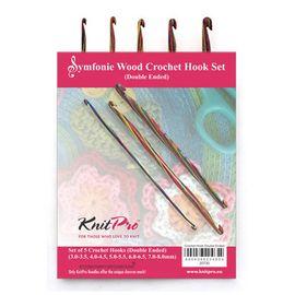 Набор двухсторонних крючков для вязания Symfonie дерево, Knit Pro 20730