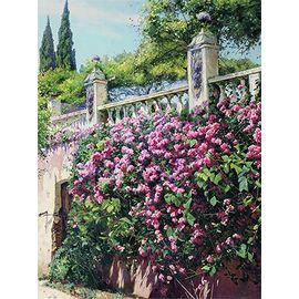 """Канва с рисунком для вышивки лентами OVM-0126 """"Цветущие розы"""""""