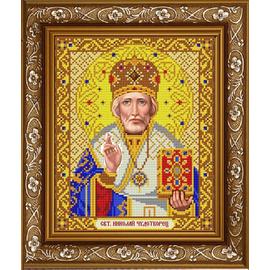 Канва для бисера Славянка ИС-4051 Святой Николай в золоте