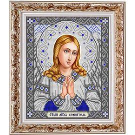 Набор для вышивания бисером Славяночка НИС-4032 Ангел хранитель в серебре
