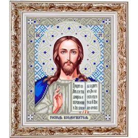 Набор для вышивания бисером Славяночка НИС-4003 Господь Вседержитель в серебре