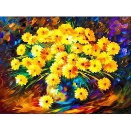 Алмазная мозаика Цветной LG008 Букет осенних хризантем