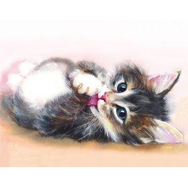 Алмазная мозаика Цветной LG011 Милый котенок