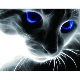 Алмазная мозаика Цветной LG016 Синие глаза