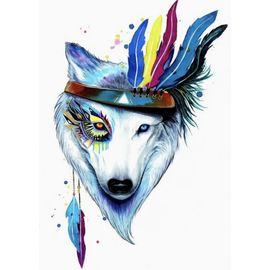 Алмазная мозаика Цветной LGP003 Собака-индеец