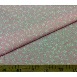 """Детская ткань бязь """"Белые бантики на розовом"""", ширина 150 см"""