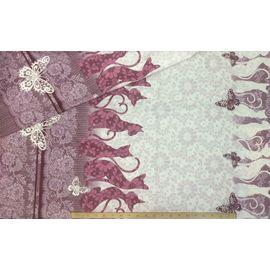 """Ткань поплин хлопок """"Кошки шармель"""", ширина 220 см"""
