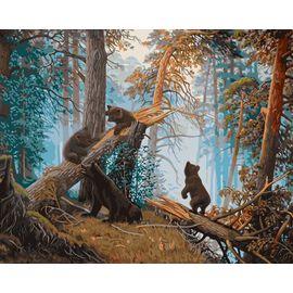 """Раскраска по номерам Фрея """"Утро в сосновом лесу"""""""