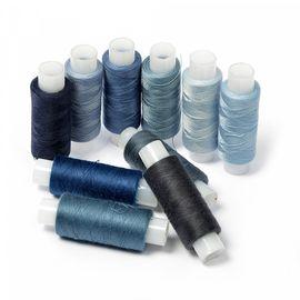 Набор ниток для штопки джинсы цв.синий ассорти