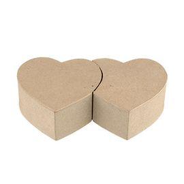 Коробка-сердце из папье-маше PAM-059