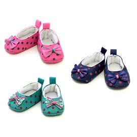 Туфли-Балетки для куклы гороховые тканевые