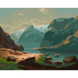 """""""Озеро в горах Швейцарии"""""""