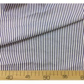 Ткань хлопок Бело-синяя полоска