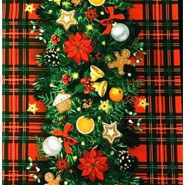 Новогодняя гирлянда на шотландке