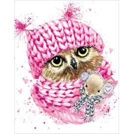 Алмазная мозаика Цветной LG208 Зимняя сова