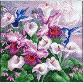 "Канва с рисунком Матренин посад 951 ""Колибри в цветах"""