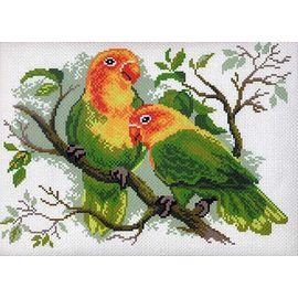 """Канва с рисунком Матренин посад 444 """"Попугай на ветке"""""""