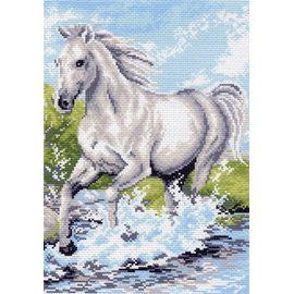 """Канва с рисунком Матренин посад 738 """"Белый конь"""""""