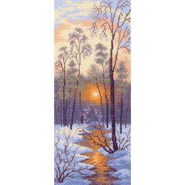 "Канва с рисунком Матренин посад 1204 ""Зимний закат"""