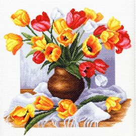 "Канва с рисунком Матренин посад 1269 ""Тюльпаны"""