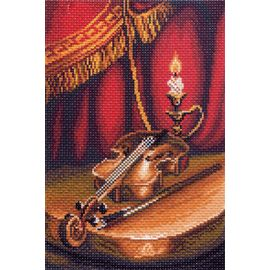 """Канва с рисунком Матренин посад 1400 """"Скрипка"""""""