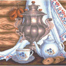 """Канва с рисунком Матренин посад 1413 """"Натюрморт с самоваром"""""""