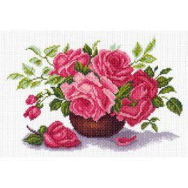 "Канва с рисунком Матренин посад 1408 ""Букет роз"""