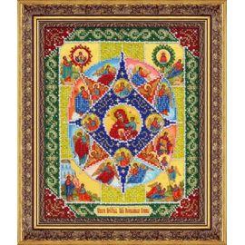 """Набор для вышивания бисером Паутинка Б1041 """"Пресвятая Богородица Неопалимая Купина"""""""
