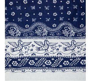 ткань синяя с узором