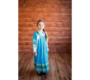 Костюм для народного танца Дарья голубой