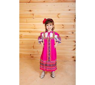 Костюм для народного танца Дарья розовый