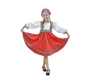 Костюм для народного танца Сияна красный