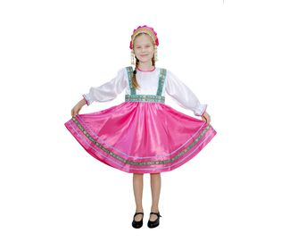 Костюм для народного танца Сияна розовый