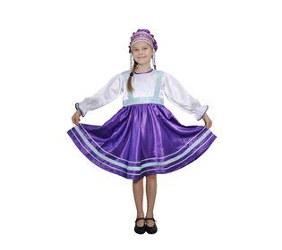 Костюм для народного танца Сияна фиолетовый